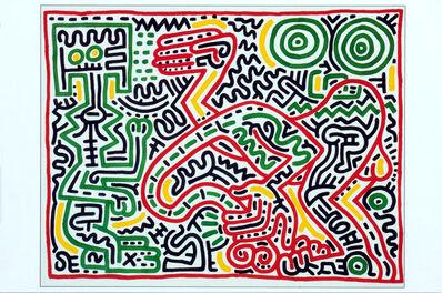 "Keith Haring, 'Keith Haring Tony Shafrazi Gallery ""Season's Greeting Card"" 1984', ca. 1984"