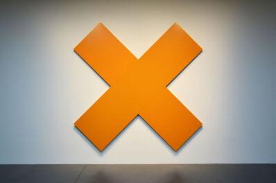 Olivier Mosset, 'Orange Cross', 2017