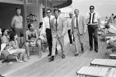Terry O'Neill, 'Frank Sinatra with his Stand-In and Bodyguards Arriving on Location, Miami Beach', 1968