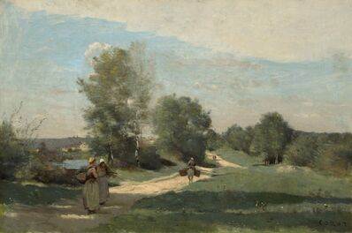 Jean-Baptiste-Camille Corot, 'Road by the Water', 1865-1870