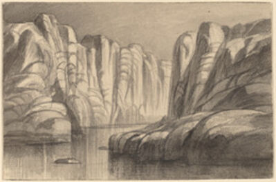 Edward Lear, 'Winding River through a Rock Formation (Philae, Egypt)', 1884/1885