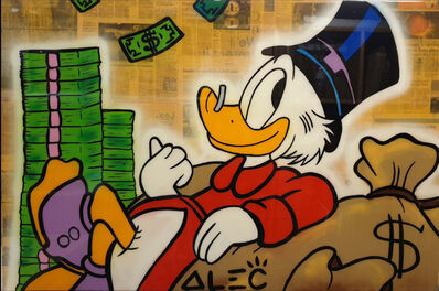 Alec Monopoly, 'Scroodge Sitting on Money Stacks', 2019