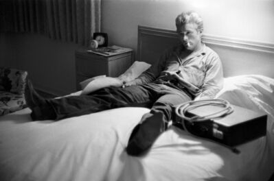 Richard C. Miller, 'James Dean Relaxing on the Bed During the Shooting of GIANT', 1956