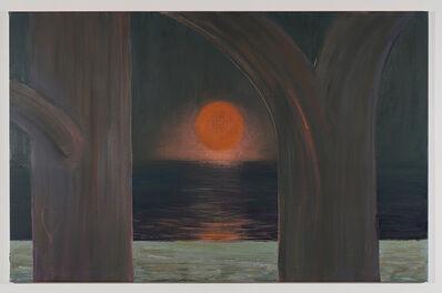 Antone Könst, 'Moon Rising, from Assateague Island', 2019