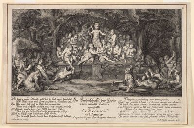 Johann Andreas Pfeffel the Younger, 'Satyrs'