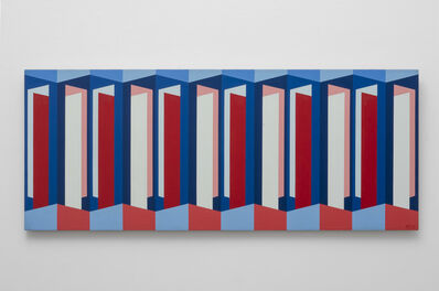 Karl Benjamin, 'Red, White, Blue Symmetry II', 1958