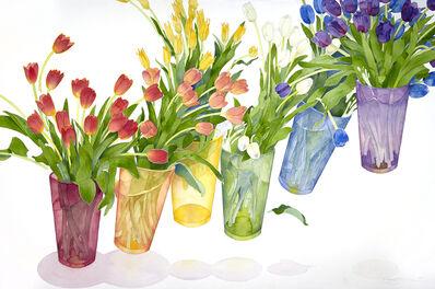 Gary Bukovnik, 'Elevating Rainbow Tulips', 2018
