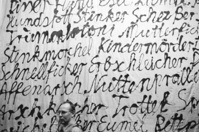 Benjamin Katz, 'Sigmar Polke (Schimpftuch, Westkunst), Cologne', 1981