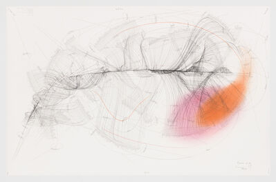 Jorinde Voigt, 'Emotional Spectrum A-Z (1) - Internal Centre; Multiple Axis Internal Centre – Internal Centre; Extract; 7 External Centres; Alignment of External Centres 1-7; Direction Of Rotation; Rotational Speed 1-81 Rotations/Day', 2012/2016