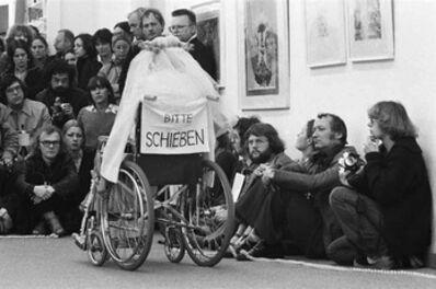 Renate Bertlmann, 'Schwangere Braut im Rollstuhl [Pregnant bride in wheelchair]', 1978