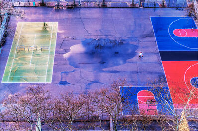 Mitchell Funk, 'Basketball  Court and New York City Park after Rain', 2018