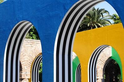 Daniel Buren, 'Photo-souvenir : D'une arche aux autres, travail in situ, Jardins du Sacré-Coeur, Casablanca. Détail ', 2015