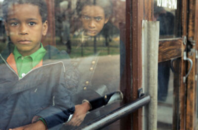 Vivian Maier, 'VM1977K05877, April 1977, Kids behind glass'