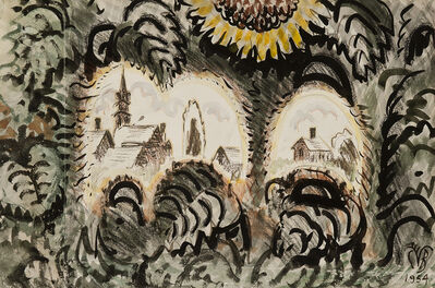 Charles Ephraim Burchfield, 'Sunflower Arches', 1954