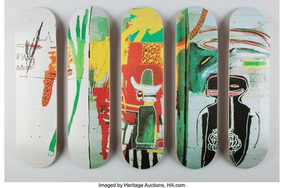 Jean-Michel Basquiat, 'Untitled, set of five skate decks (Open Edition)', 2016