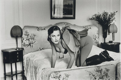 Helmut Newton, 'Saddle I, Paris (at the Hotel Lancaster), 1976', 1976