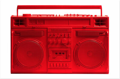 Lyle Owerko, 'Boombox Sculpture series size D (Red)', 2019