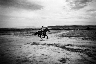 Ziv Koren, ' Kazakhstan Jul. 1998 - Children's horse race in the Taukum desert.', 1998