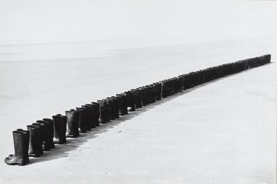 Eleanor Antin, '100 Boots at the Beach, Solana Beach, California', 1972