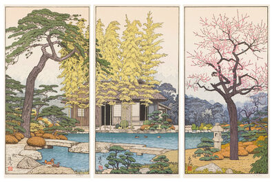 Toshi Yoshida, 'The Garden of the Three Friends Triptych', 1980