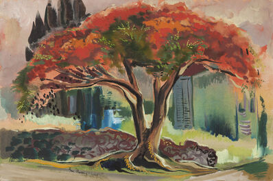 Ben Norris, 'Poinciana Tree', 1945