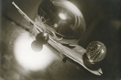 Emile Langui (Circle of), 'Surreal Still Life of Feather, Marbles and Crystal', 1928c/1928c