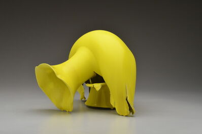 Steven Young Lee, 'Vase with Yellow Glaze and Lobed Rim', 2020