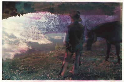 Robert Farber, 'Cowboy at Pond'