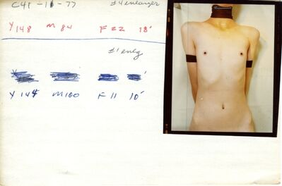 Jo Ann Callis, 'Untitled, Contact Print, from Early Color Series', 1994