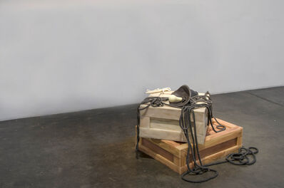 Jeanne Silverthorne, 'Fallen Lights on Crate XXV on Crate XXVI'