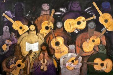 Orlando Agudelo Botero, 'LOS SERENATEROS', 2017