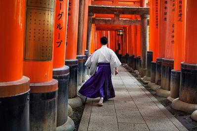 Steve McCurry, 'Man Walks Through Fushimi Inari Shrine, Kyoto, Japan', 2007