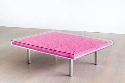 Yves Klein, 'YK Pink table (Pink pigments)',  2018