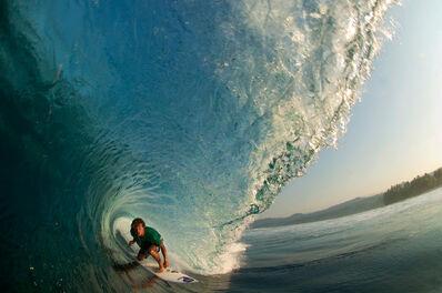 Guillermo Cervera, 'Jatyr Berasaluce surfing lanes, Sumatra, Indonesia.'