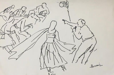 """M. F. Husain, 'Untitled, Marker on Paper by Modern Indian Artist """"In Stock""""', 1985-2008"""
