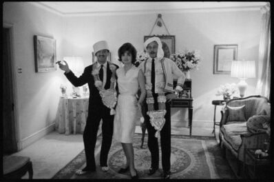 Benno Graziani, 'Jackie Kennedy, Oleg Cassini and Benno Graziani, London, March 1962', 1962