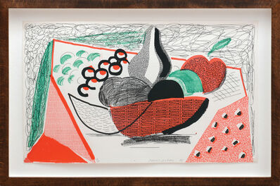 David Hockney, 'Apples, Pears and Grapes.', 1986