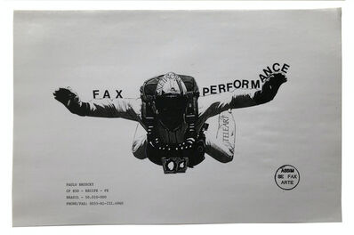 Paulo Bruscky, 'Fax Performance', 1985