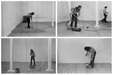 Billy Apple, 'Four Activities: Mopping, Sweeping, Vacuuming, Washing, 20 March 1971', 1971