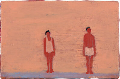 Katherine Bradford, 'Couple on Purple', circa 2010