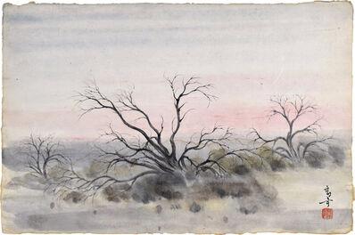 Kakunen Tsuruoka, 'untitled (mesquite under a soft pink and grey sky)', ca. 1942-44
