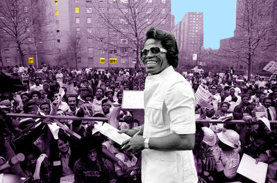 Richard E. Aaron, 'James Brown in Harlem - 1975 Colorized Photo on Hahnemuehle Paper'
