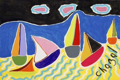 Malcolm de Chazal, 'Untitled (Sail Boats)'
