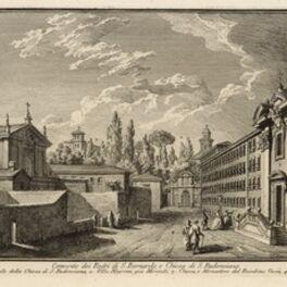 Giuseppe Vasi, 'Convento dei Padre di S. Bernardo, e Chiesa di S. Pudenziana', 1747-1801