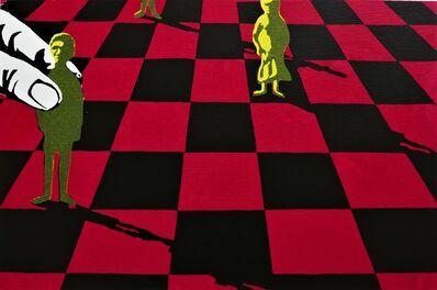 Lin Onus, 'Pawns—Red', 1996