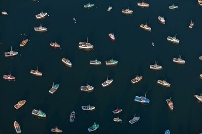 Alex Maclean, 'Directionless Lobster Boats, Tremont, ME', 2010