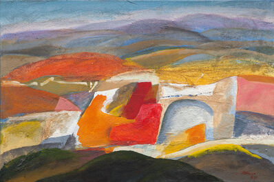 Paolo Buggiani, 'Maremma - La Casa in Collina (Maremma - The House on the Hill)'