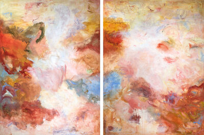 Patricia Qualls, 'Sending Love (Diptych)', 2018