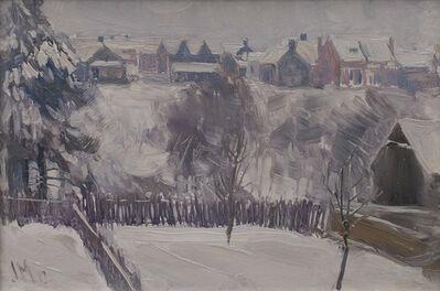 JEH MacDonald, 'Backyard, West Toronto', 1912