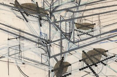 Barry Le Va, 'Drawing Interruptions: Blocked Structures #6 (Combined in 2 Perspectives)', 1981-82